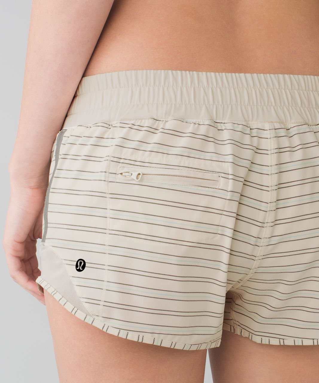 "Lululemon Hotty Hot Short *2.5"" - Alley Stripe Angel Wing Black / Angel Wing"