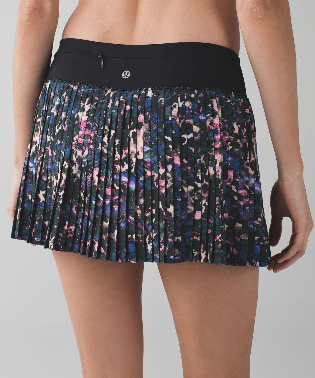 a479be8b48 Lululemon Pleat To Street Skirt II - Floral Backdrop Black Multi / Black -  lulu fanatics