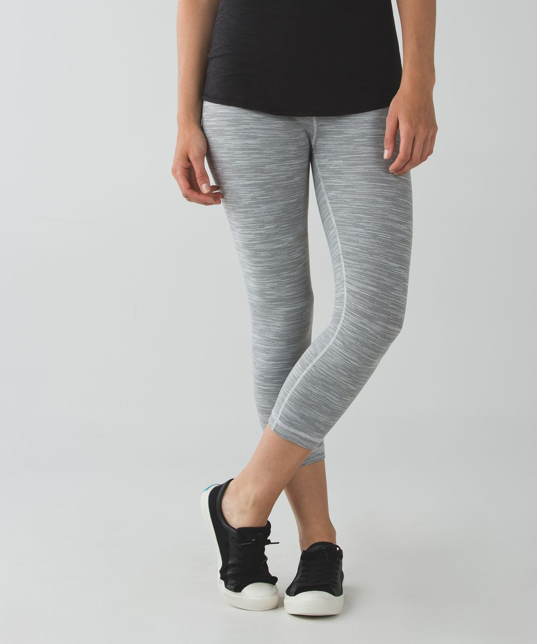 Lululemon Wunder Under Crop II (Roll Down) - Wee Are From Space Silver Spoon