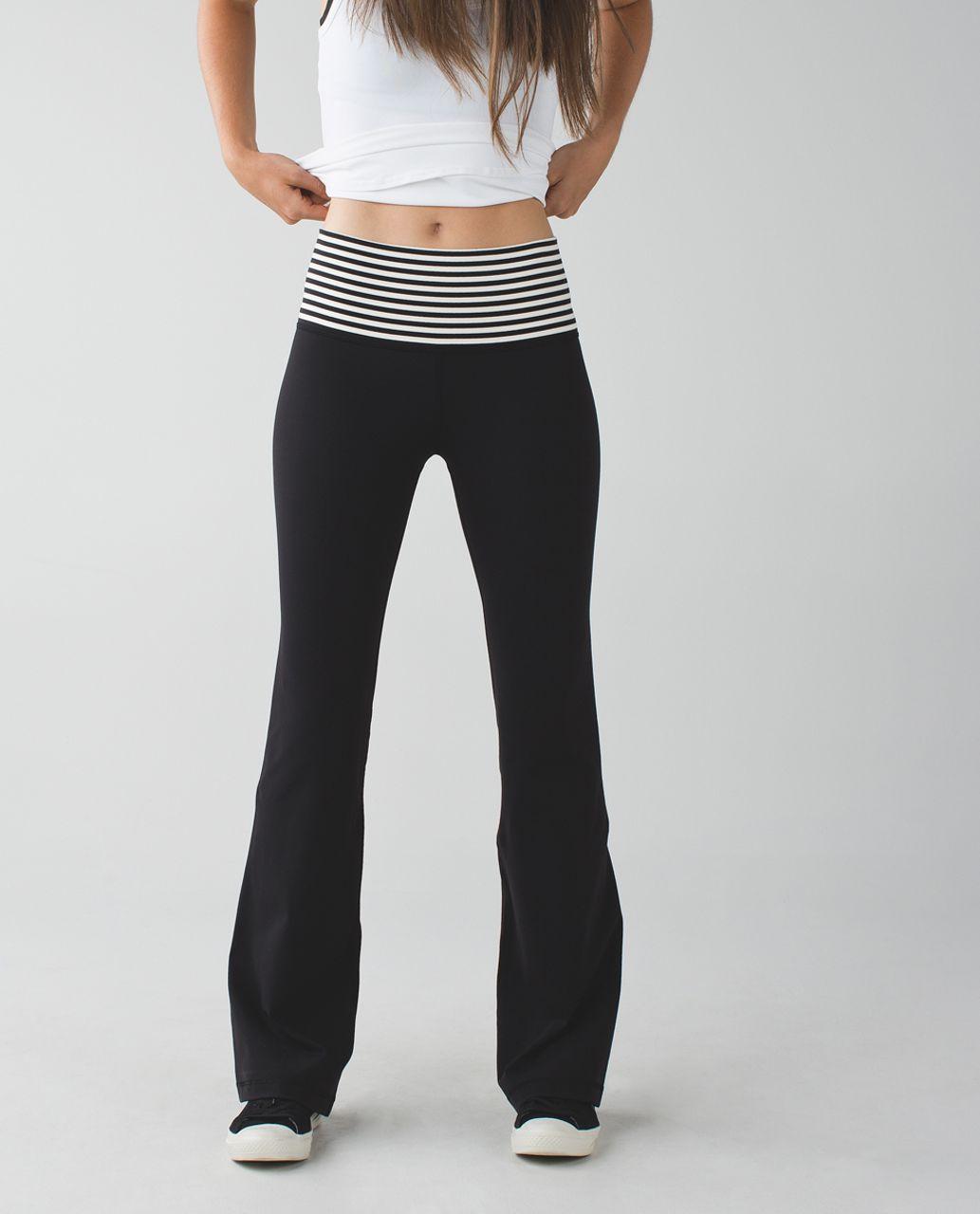 Lululemon Groove Pant (Tall) - Black / Narrow Bold Stripe Black Angel Wing