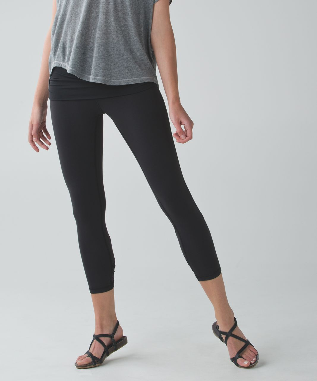 Lululemon Wunder Under Pant (Roll Down - Dance) - Black