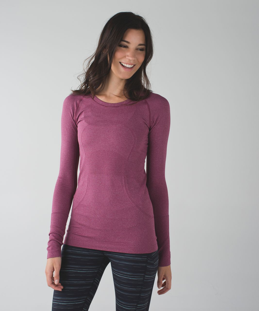 Lululemon Swiftly Tech Long Sleeve Crew - Heathered Dashing Purple (First Release)