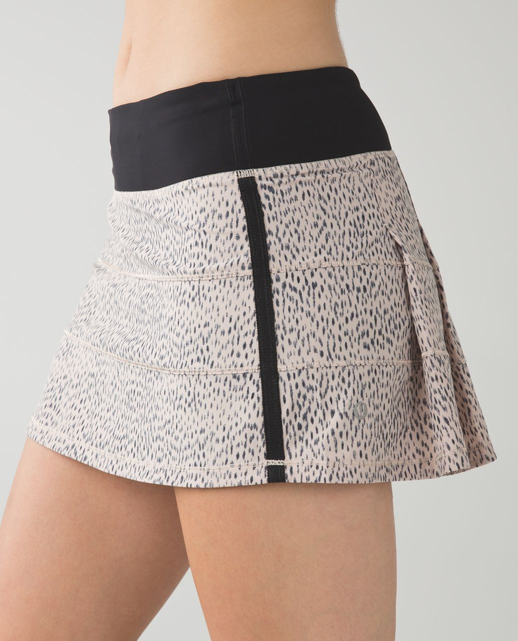 Lululemon Pace Rival Skirt II *4-way Stretch (Regular) - Dottie Dash Grain Black / Black