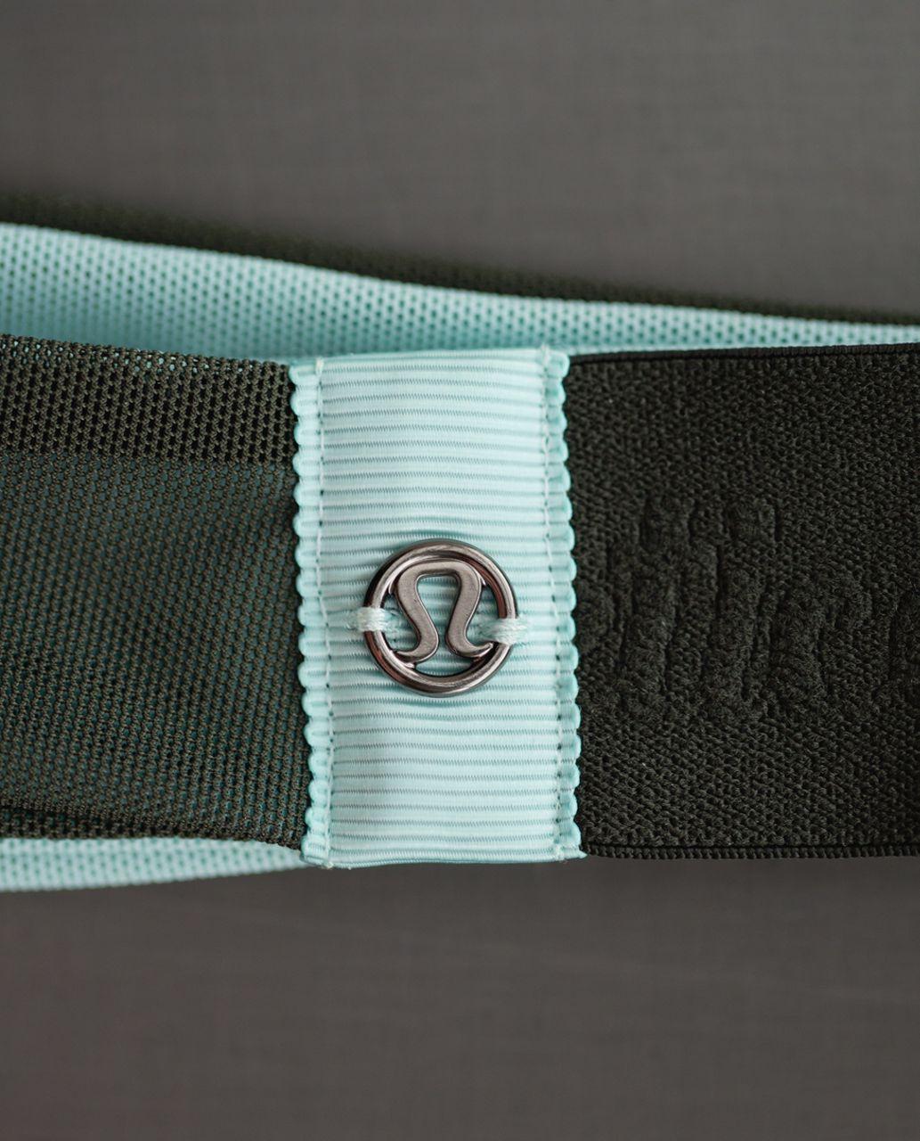 Lululemon Fringe Fighter Headband *Mesh - Gator Green / Tranquil Blue