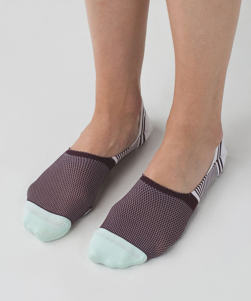 Lululemon Secret Sock - Bordeaux Drama / White / Sea Mist