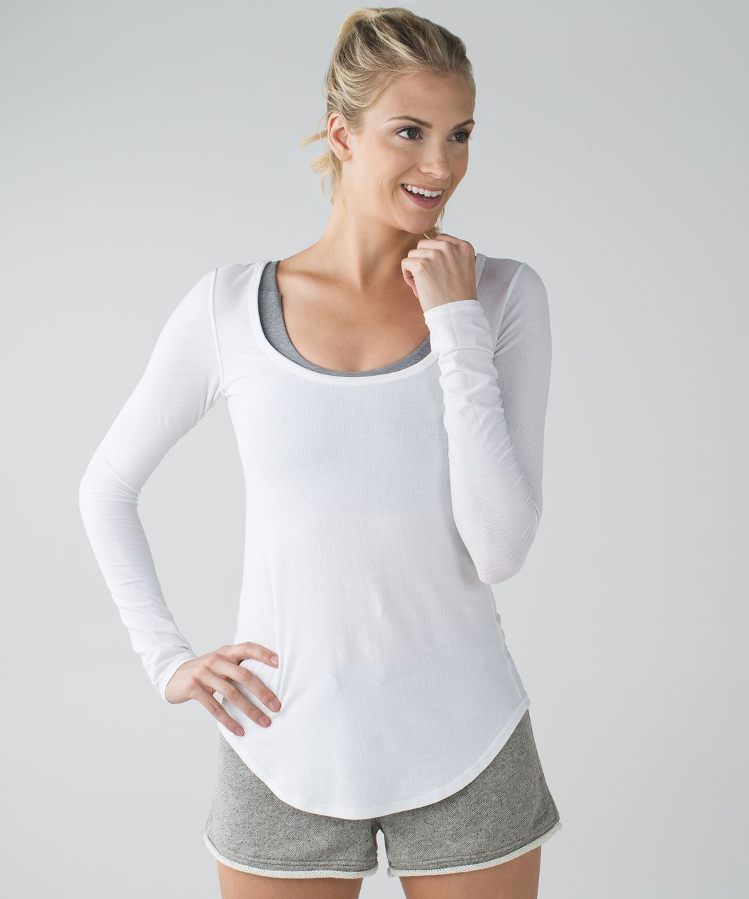 Lululemon Inner Essence Long Sleeve Tee - White