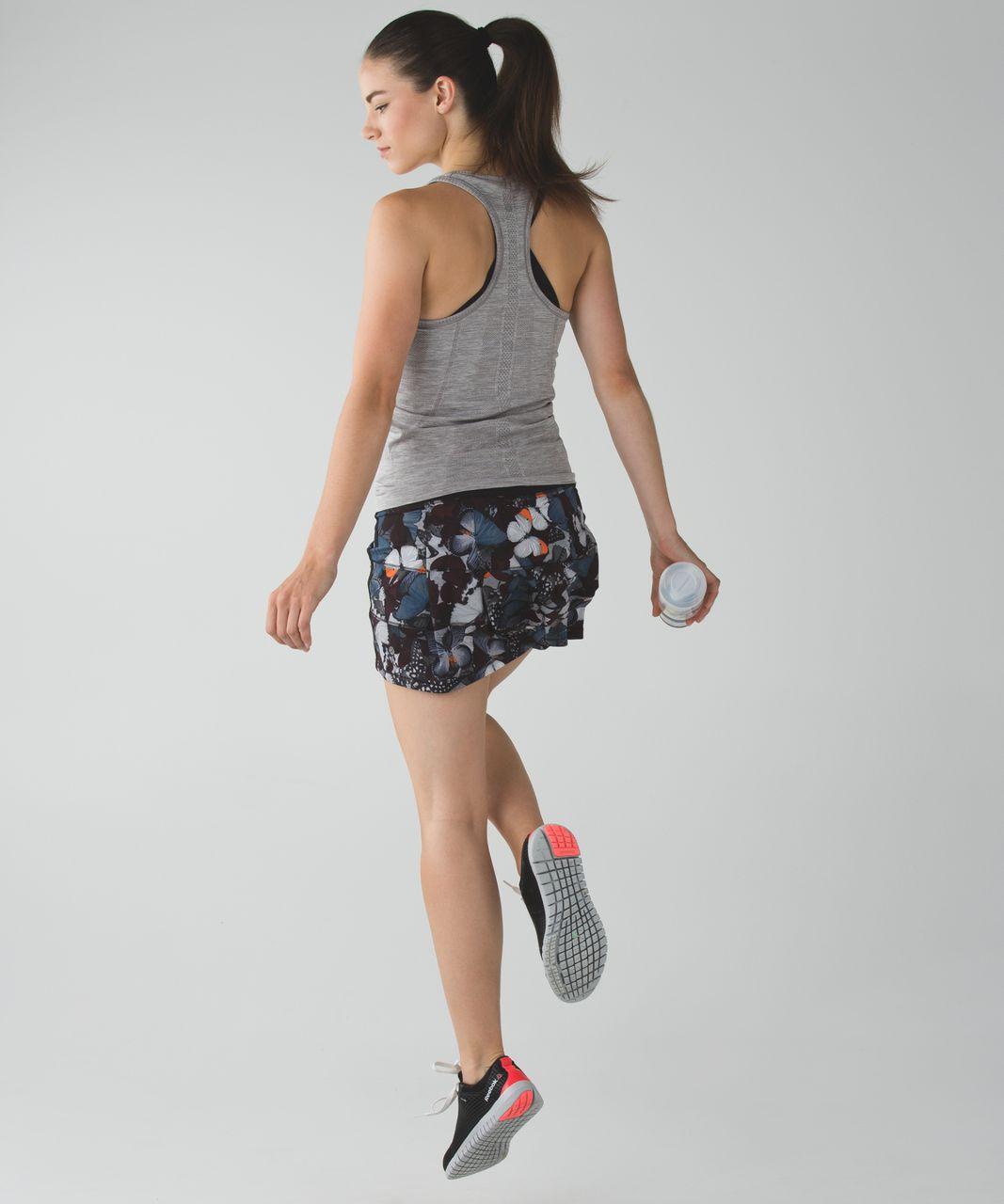 Lululemon Pace Rival Skirt II *4-way Stretch (Regular) - Biggie So Fly Butterfly Pizzaz Multi / Black / Pizzaz