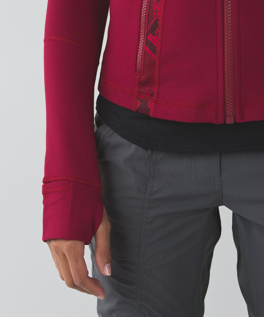 Lululemon Define Jacket - Cranberry / Ziggy Snake Red Tide Cranberry
