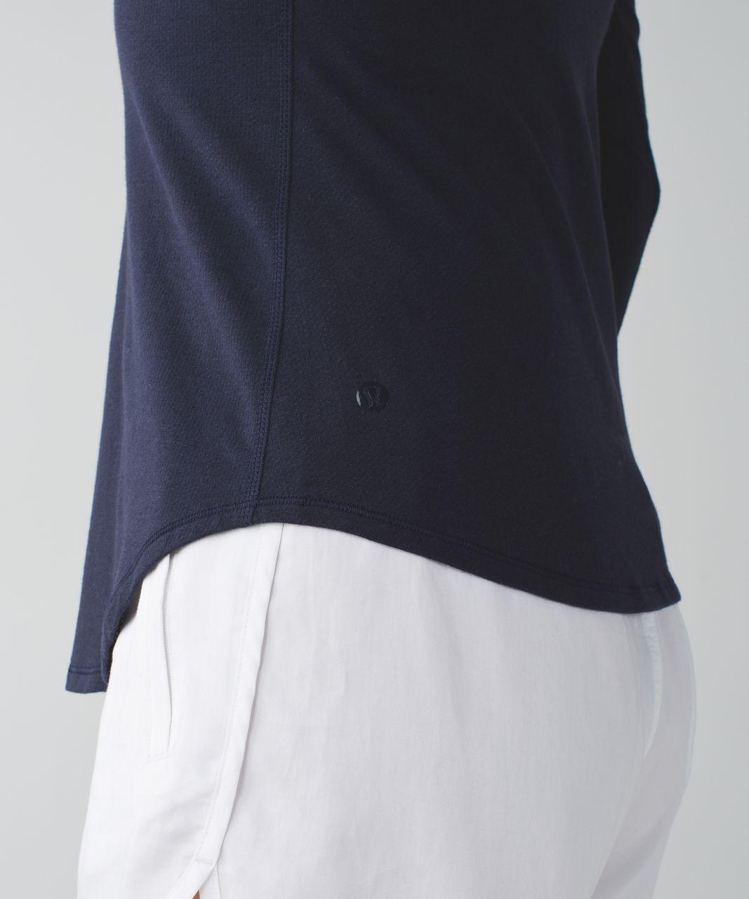 Lululemon Inner Essence Long Sleeve Tee - Naval Blue