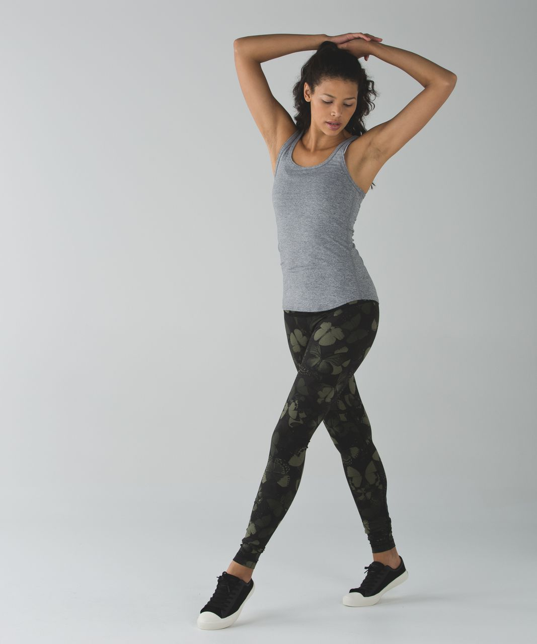 Lululemon Wunder Under Pant *Full-On Luon (Hi-Rise) - Biggie So Fly Butterfly Fatigue Green Black