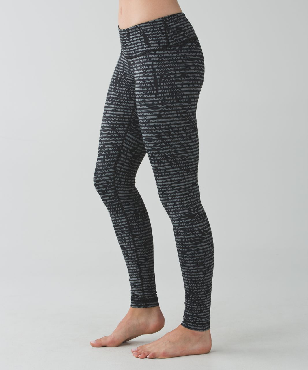 Lululemon Wunder Under Pant *Full-On Luon - Stripe Play Slate Black