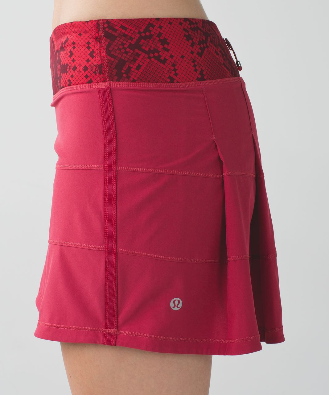 Lululemon Pace Rival Skirt II *4-way Stretch (Tall) - Cranberry / Mini Ziggy Snake Red Tide Cranberry