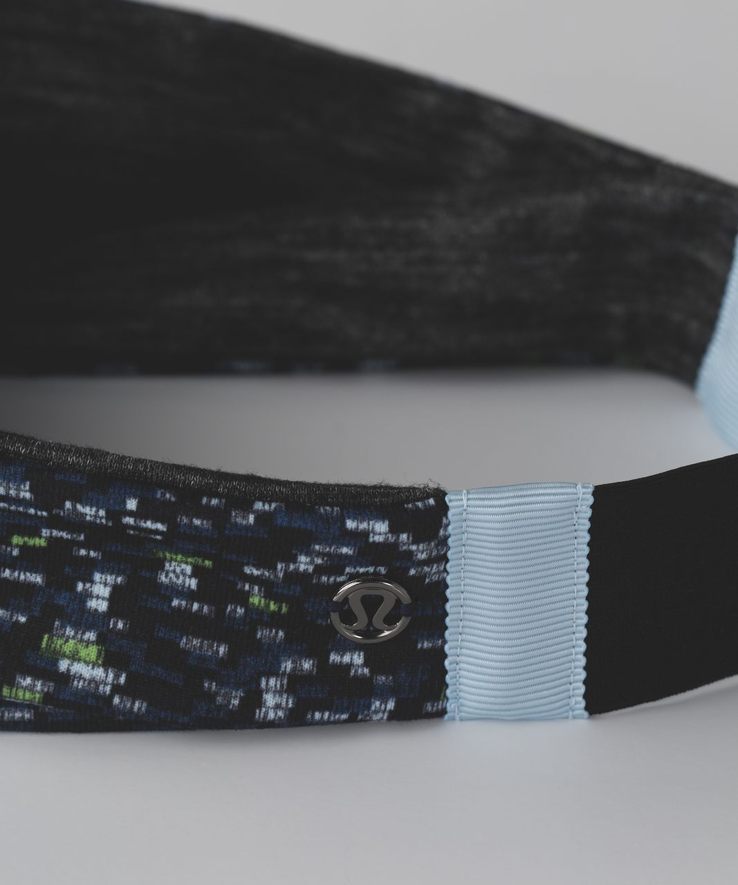 Lululemon Fringe Fighter Headband - Digi Pixie Caspian Blue Black / Heathered Black