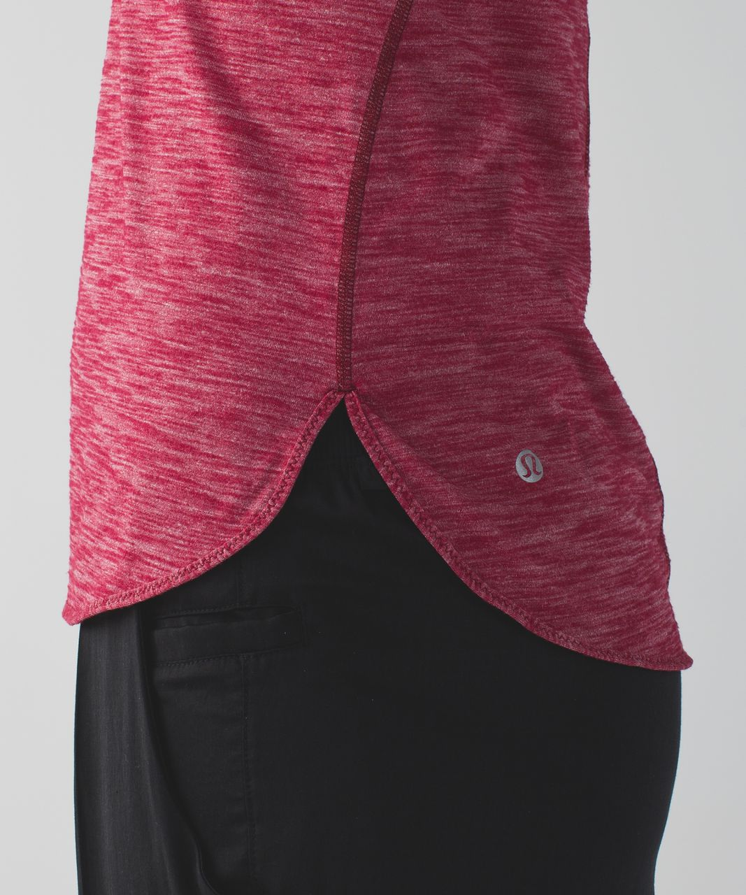 Lululemon What The Sport Singlet II - Heathered Cranberry