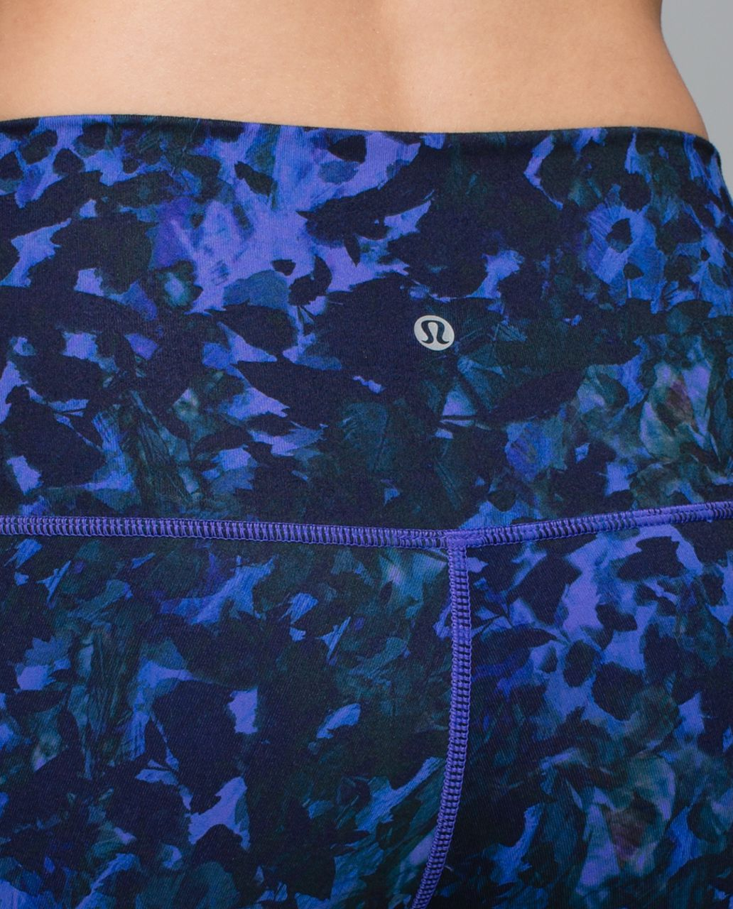 Lululemon Wunder Under Pant *Full-On Luon (Roll Down) - Floral Sport Backdrop Iris Flower Multi