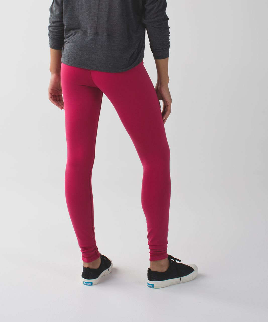 Lululemon Wunder Under Pant III (Reversible) - Cranberry / Alarming