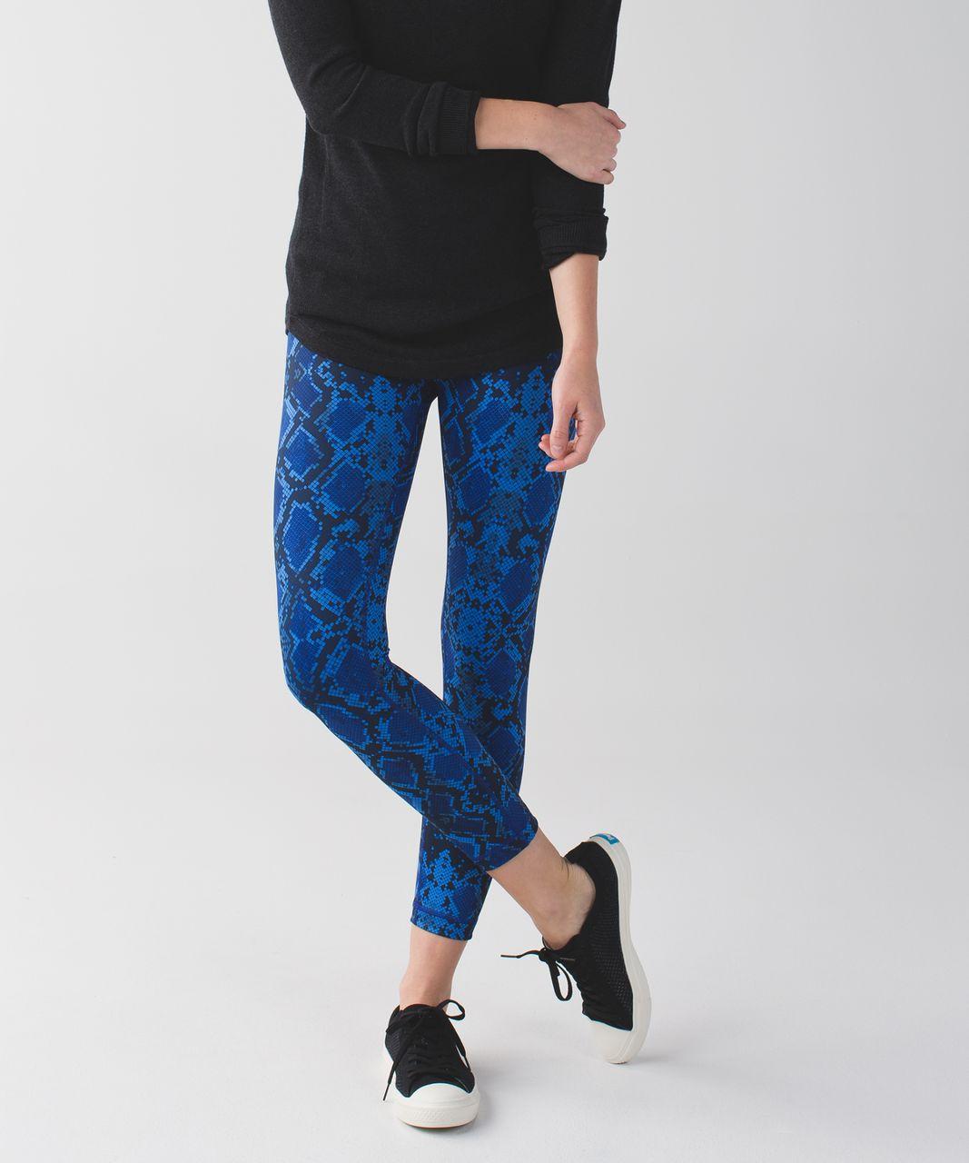 Lululemon High Times Pant *Full-On Luon - Mini Ziggy Snake Pipe Dream Blue Sapphire Blue