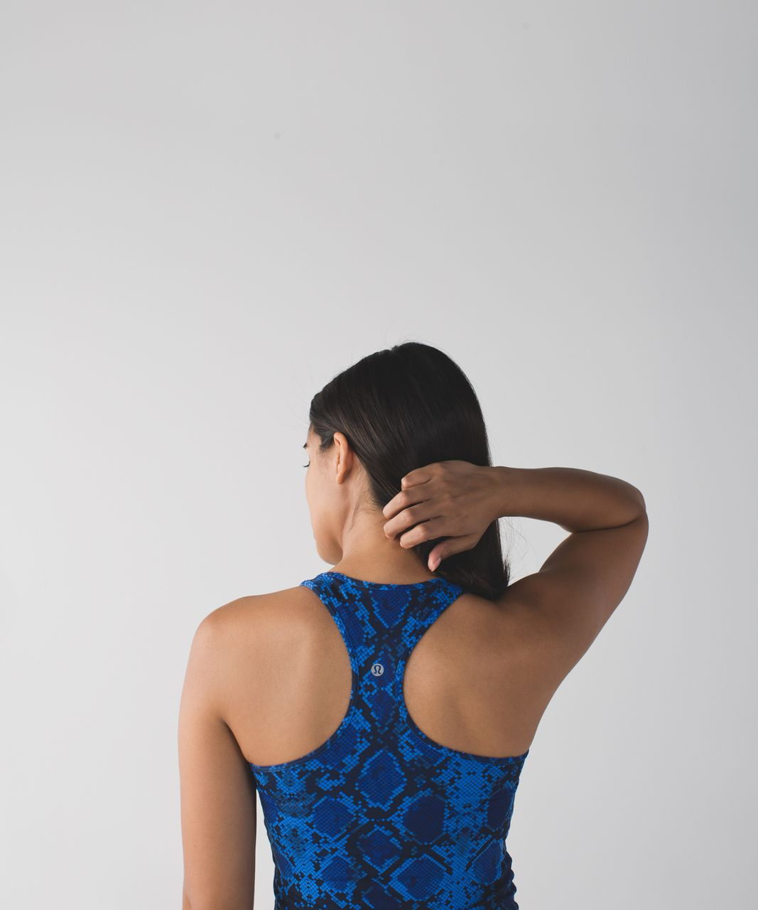 Lululemon Cool Racerback - Mini Ziggy Snake Pipe Dream Blue Sapphire Blue