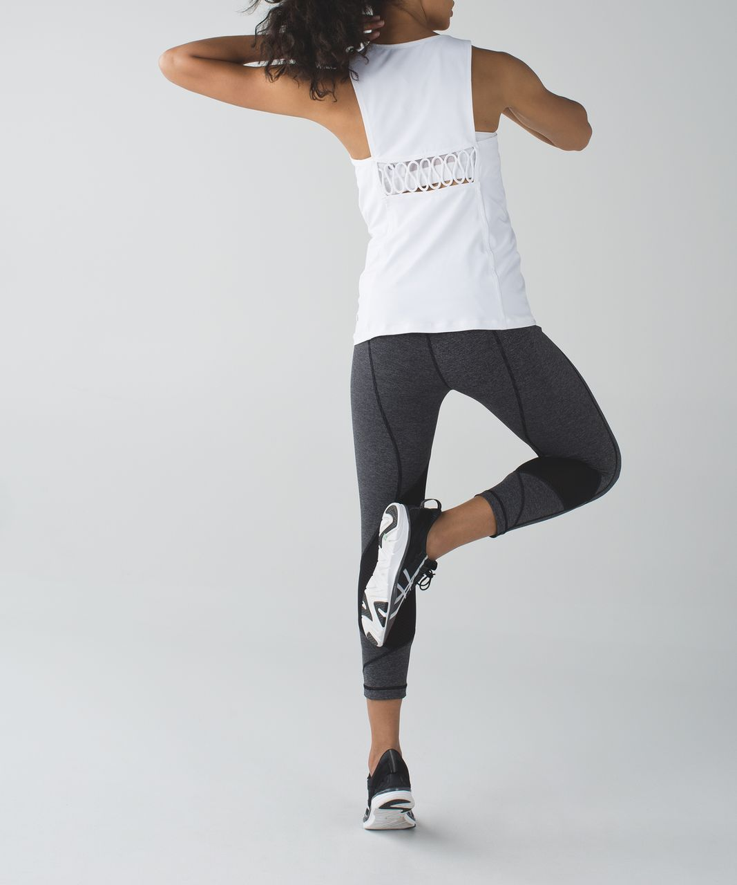 Lululemon Pace Rival Crop - Wee Stripe Black Heathered Black / Exploded So Fly Butterfly Angel Wing Black / Black