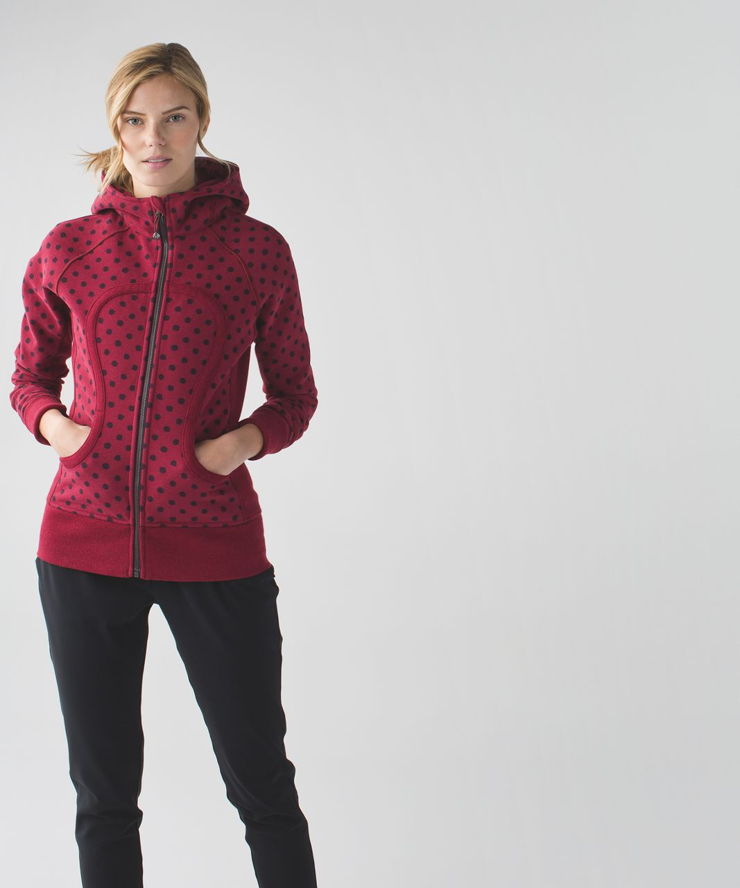 Lululemon Scuba Hoodie II - Ghost Dot Heathered Cranberry Bordeaux Drama / Cranberry / Heathered Cranberry