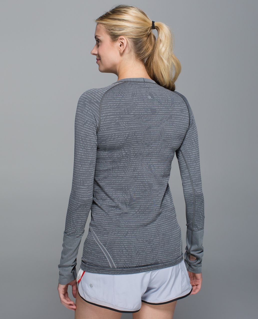 Lululemon Swiftly Tech Long Sleeve Crew - Heathered Slate (Second Release)