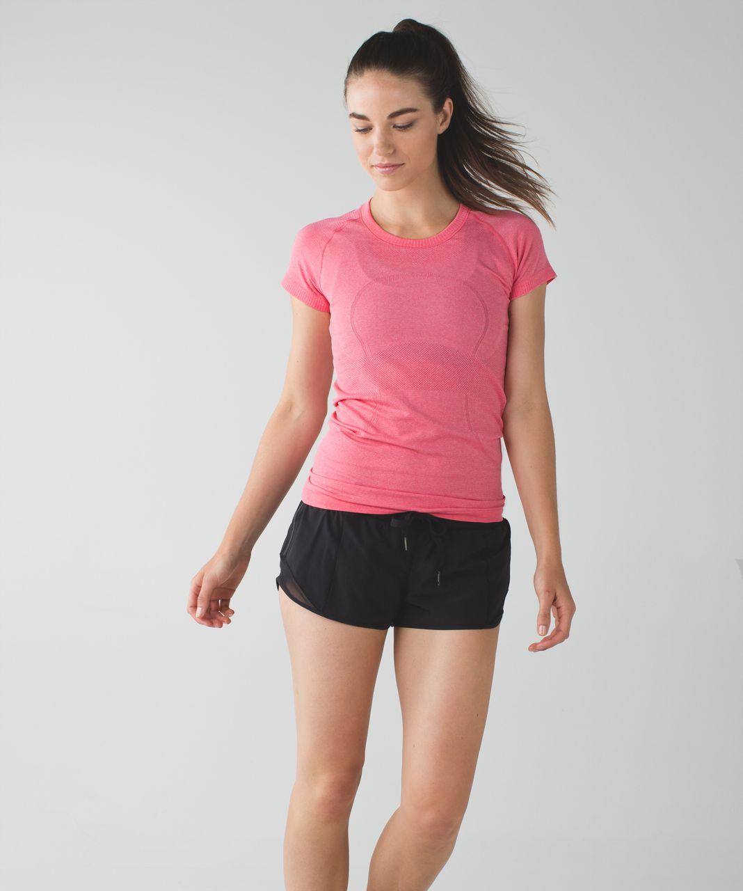 Lululemon Swiftly Tech Short Sleeve Crew - Heathered Pink Lemonade