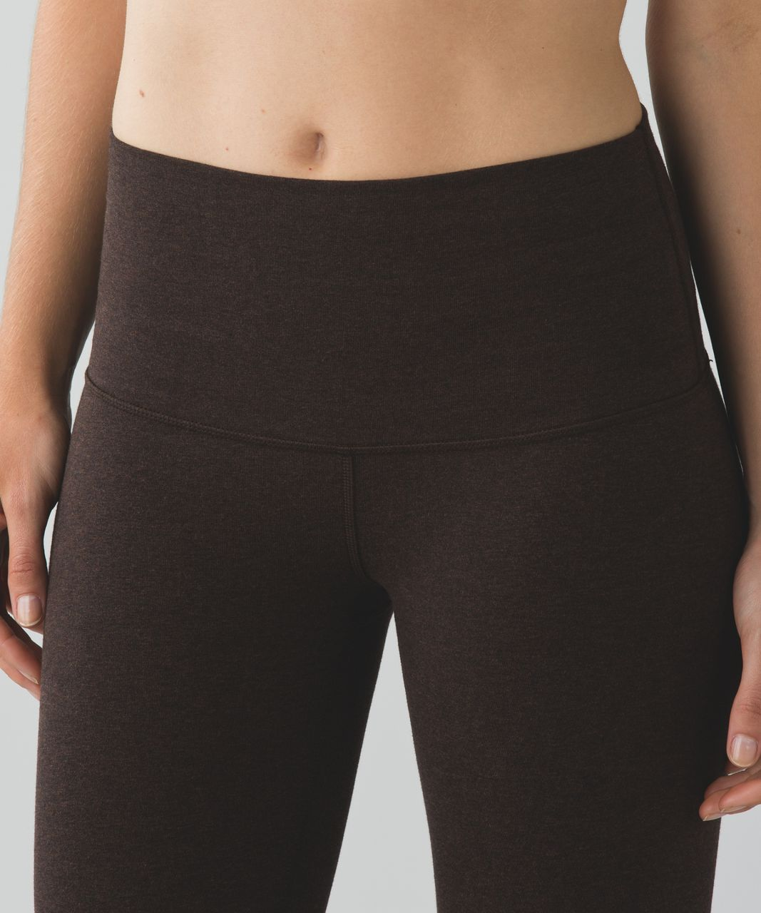 Lululemon Wunder Under Pant (Hi-Rise) *Cotton - Heathered Espresso