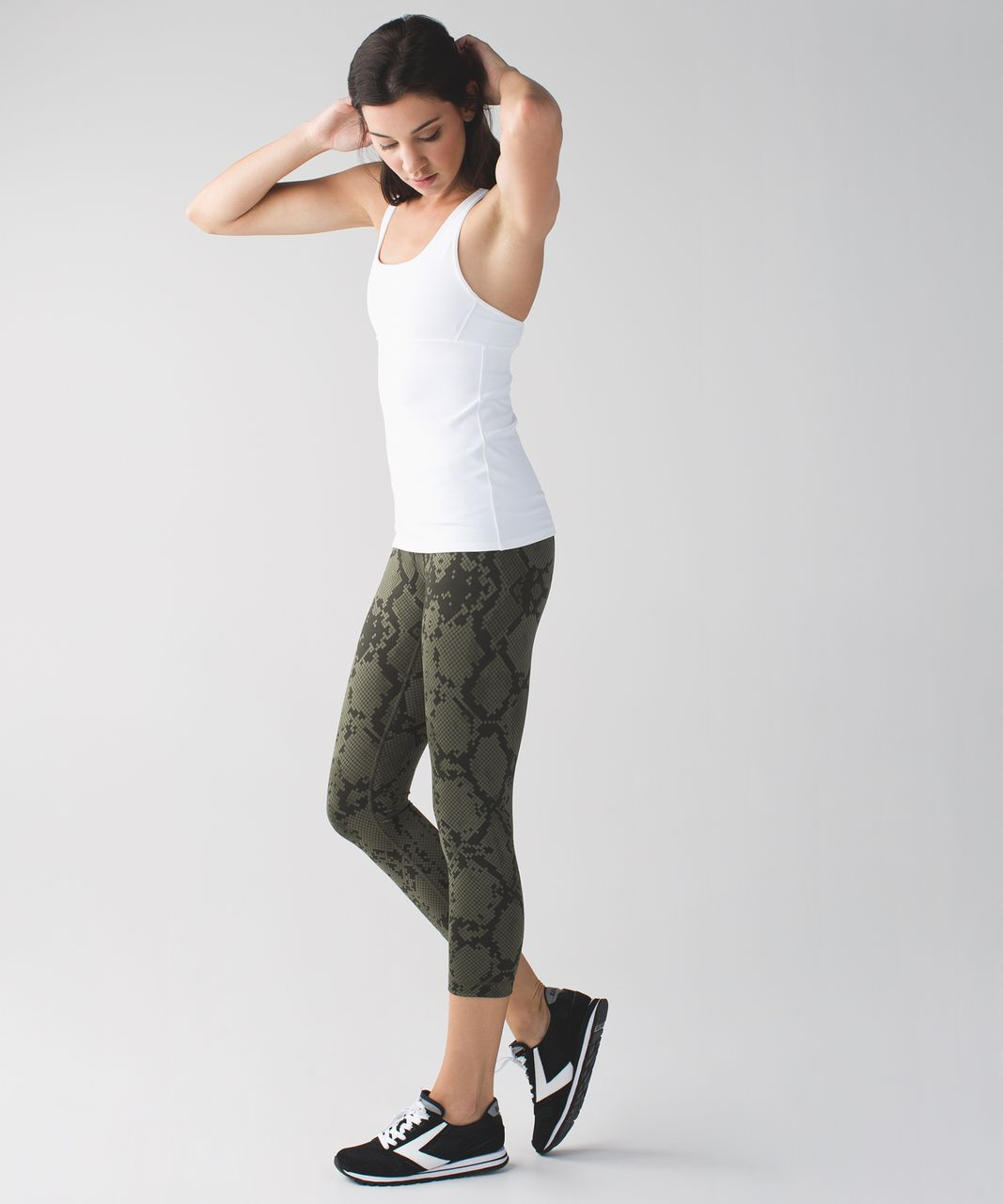 Lululemon Wunder Under Crop III *Full-On Luon - Ziggy Snake Fatigue Green Gator Green