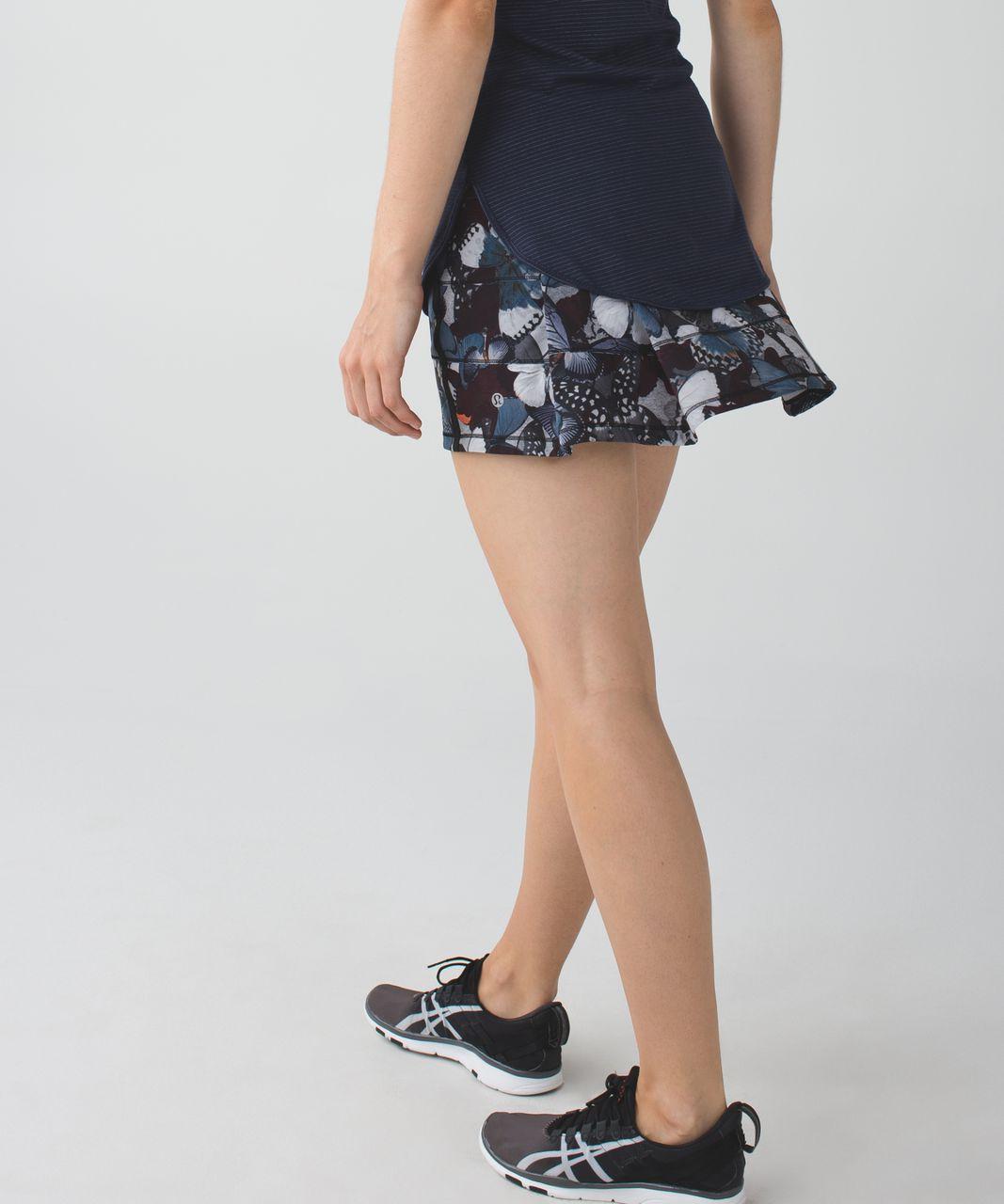 Lululemon Pace Rival Skirt II (Regular) *4-way Stretch - Biggie So Fly Butterfly Pizzaz Multi / Black / Pizzaz