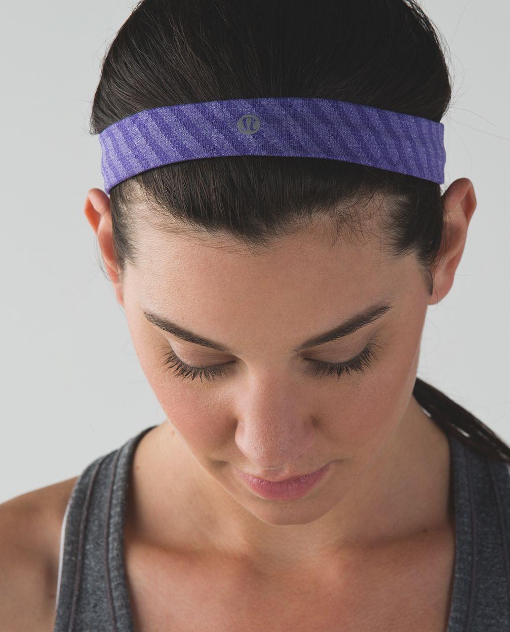 Lululemon Cardio Cross Trainer Headband - Heathered Iris Flower