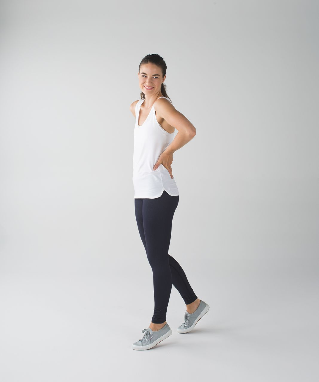 Lululemon Wunder Under Pant III - Naval Blue / White