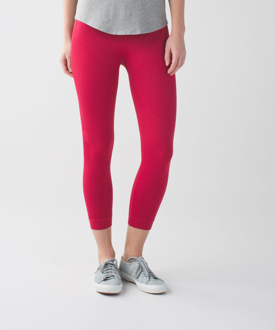 98c99524bc9ef4 Lululemon Zone In Crop - Cranberry - lulu fanatics
