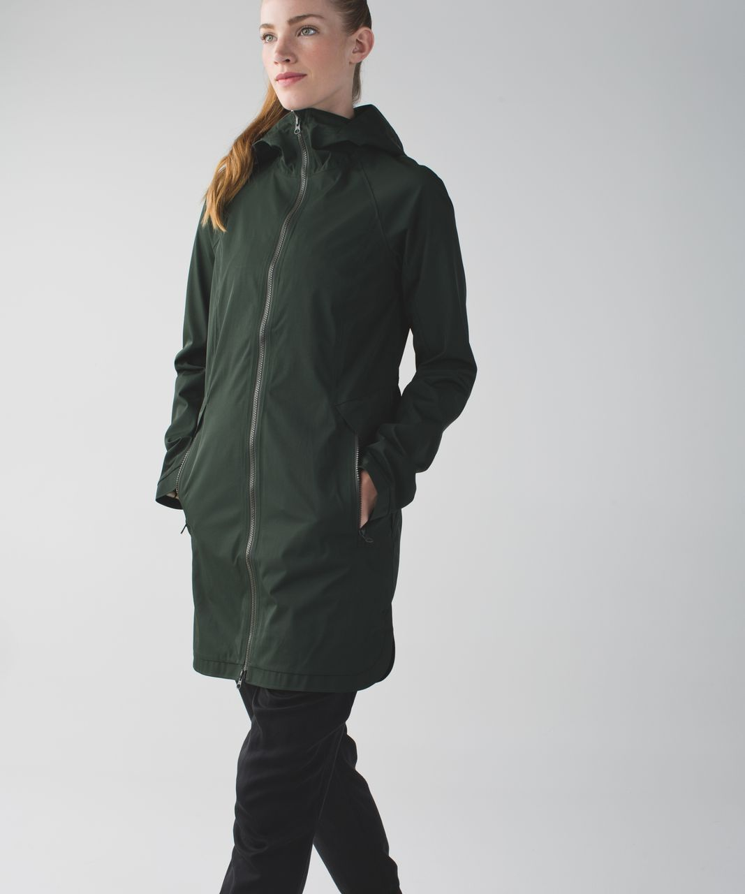 Lululemon Definitely Raining Jacket - Gator Green