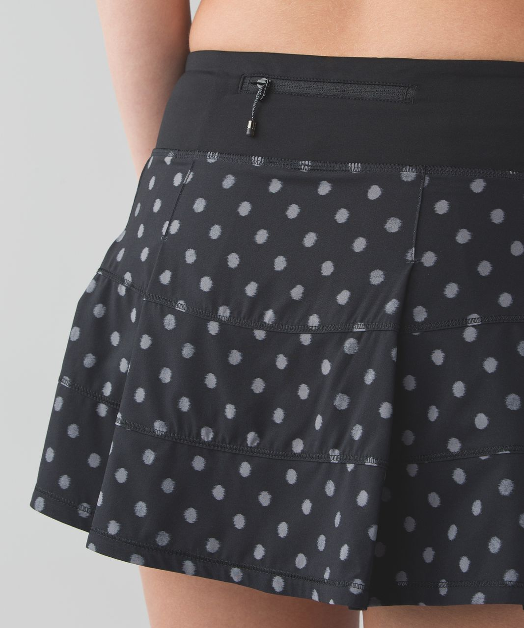 Lululemon Pace Rival Skirt II (Regular) *4-way Stretch - Ghost Dot Black Slate / Black