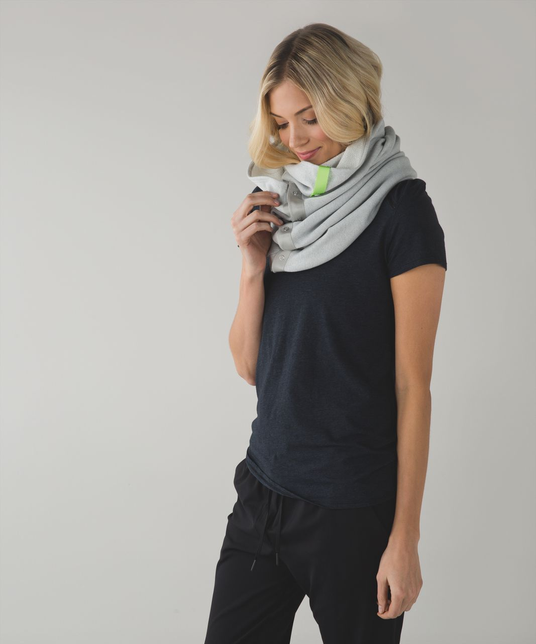 Lululemon Vinyasa Scarf *Cotton - Heathered Silver Spoon