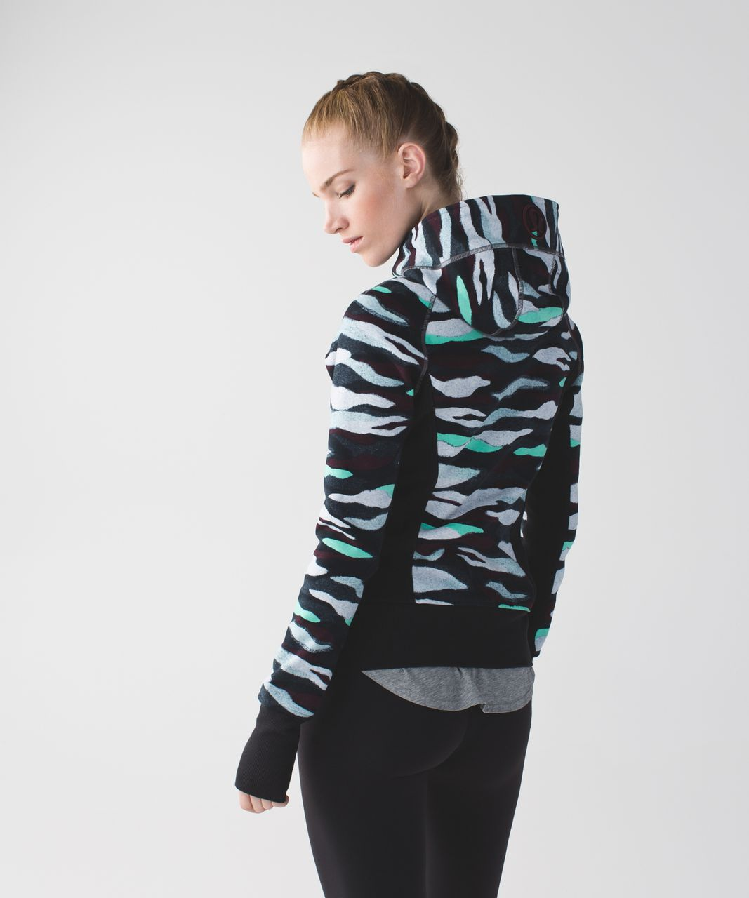 Lululemon Scuba Hoodie II - Mini Coast Camo Multi / Black