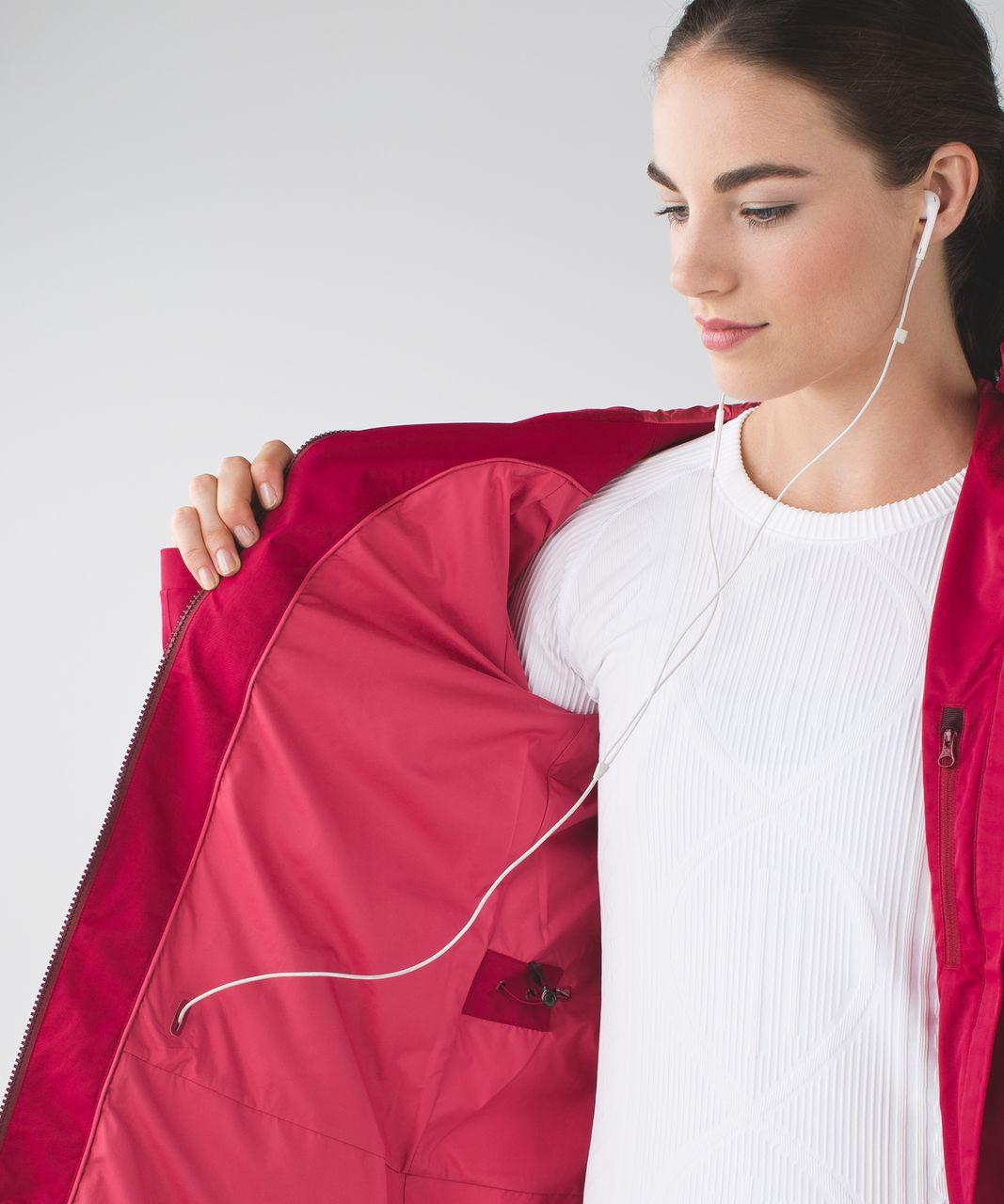 Lululemon Definitely Raining Jacket - Cranberry