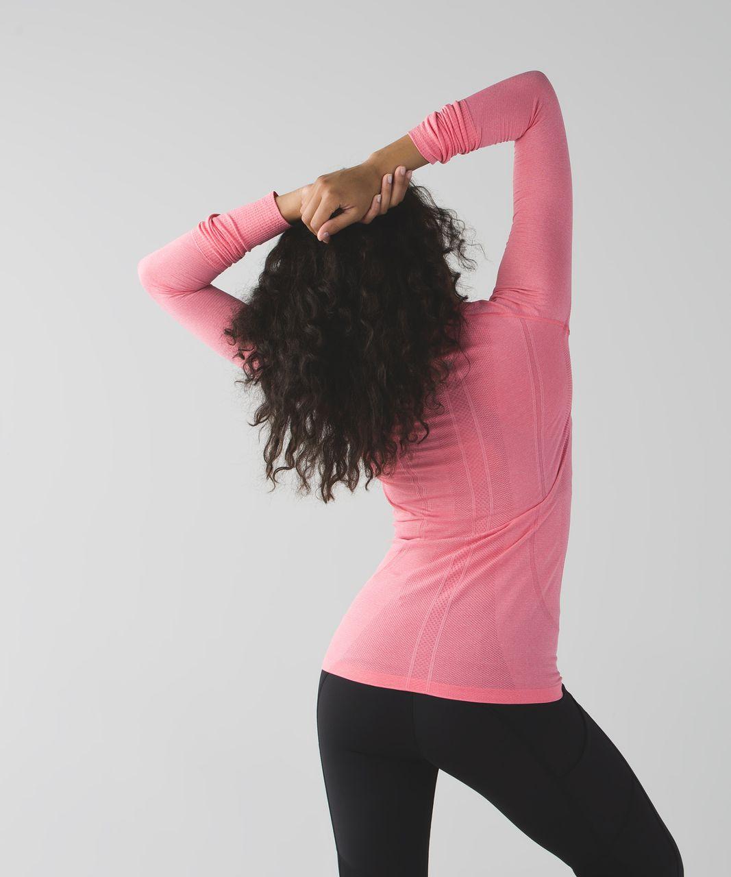 Lululemon Swiftly Tech Long Sleeve Crew - Heathered Pink Lemonade