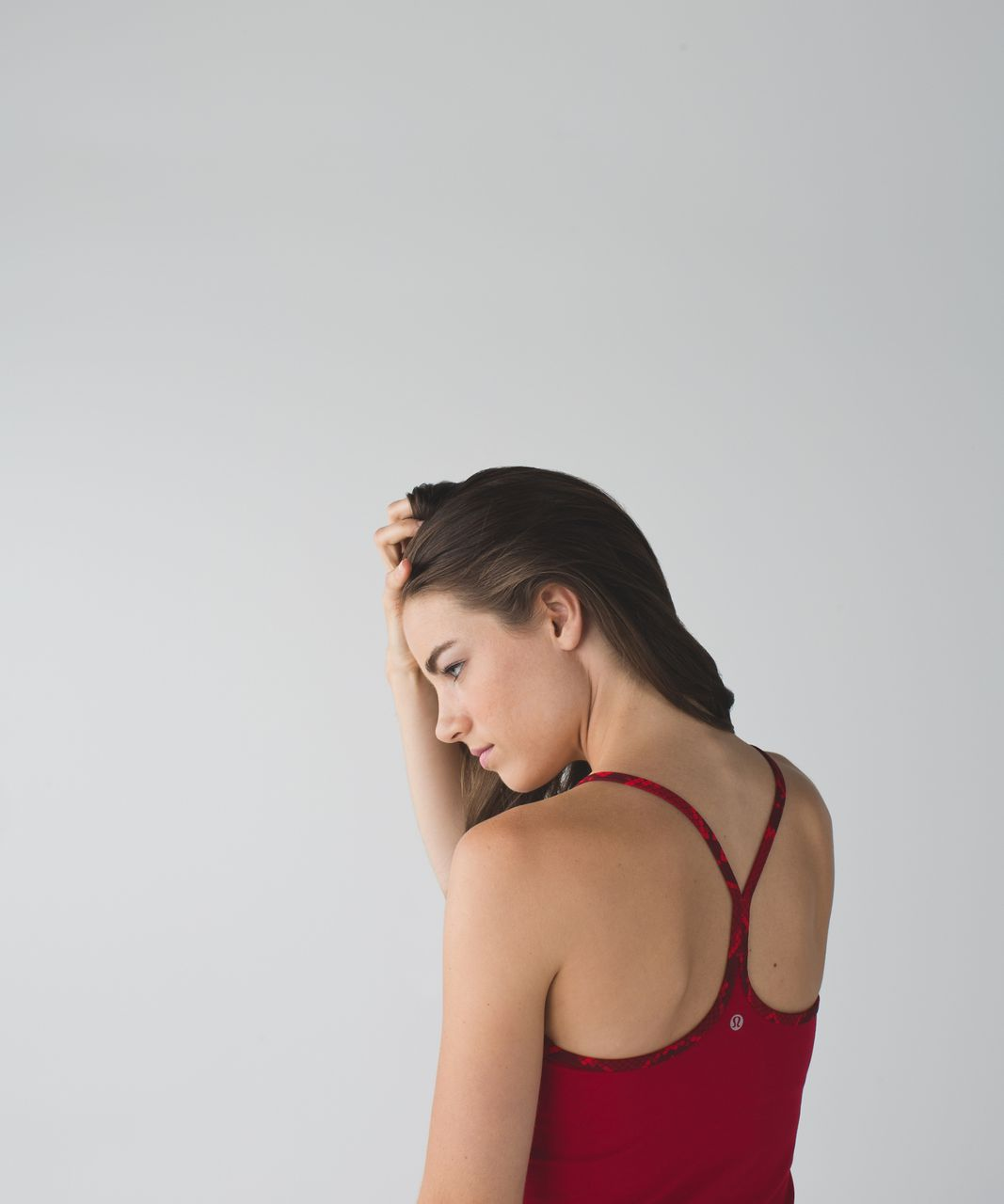 Lululemon Power Y Tank *Luon - Cranberry / Ziggy Snake Red Tide Cranberry