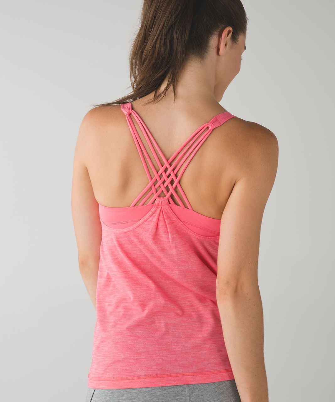 Lululemon Sunset Salutation Tank - Heathered Pink Lemonade / Pink Lemonade