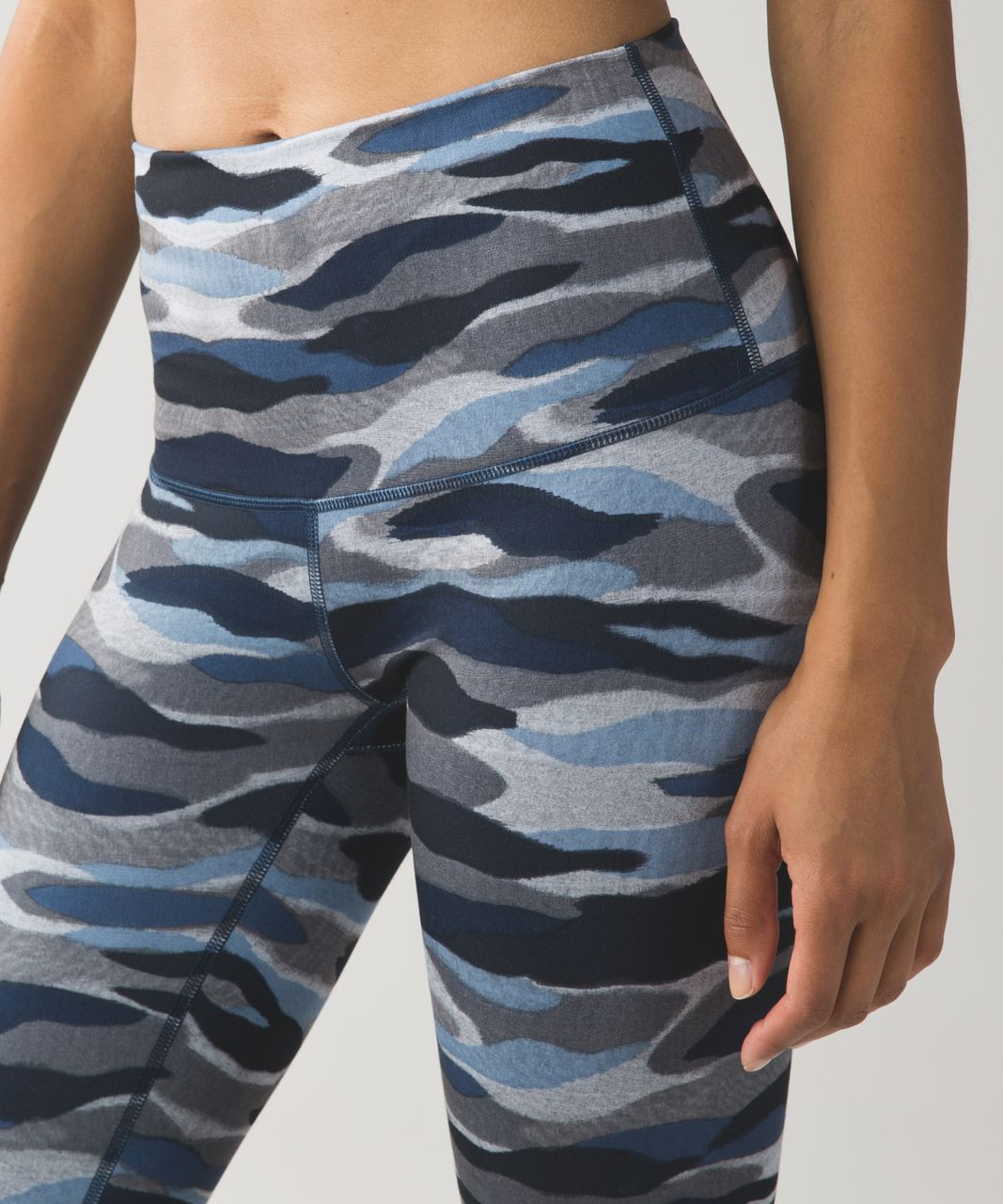 Lululemon Wunder Under Pant (Hi-Rise) *Full-On Luon - Mini Coast Camo Deep Navy Multi