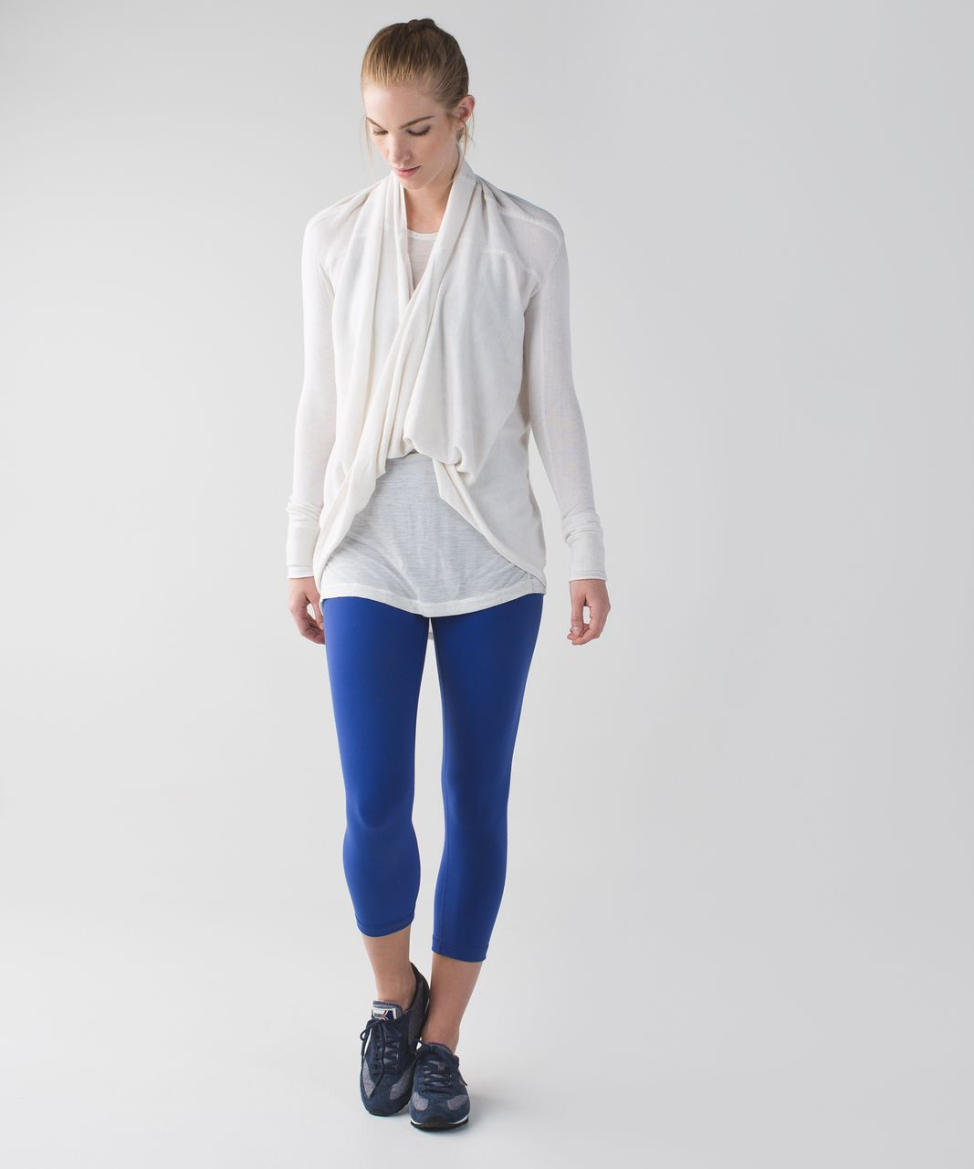 Lululemon Wunder Under Crop (Hi-Rise) *Full-On Luon - Sapphire Blue