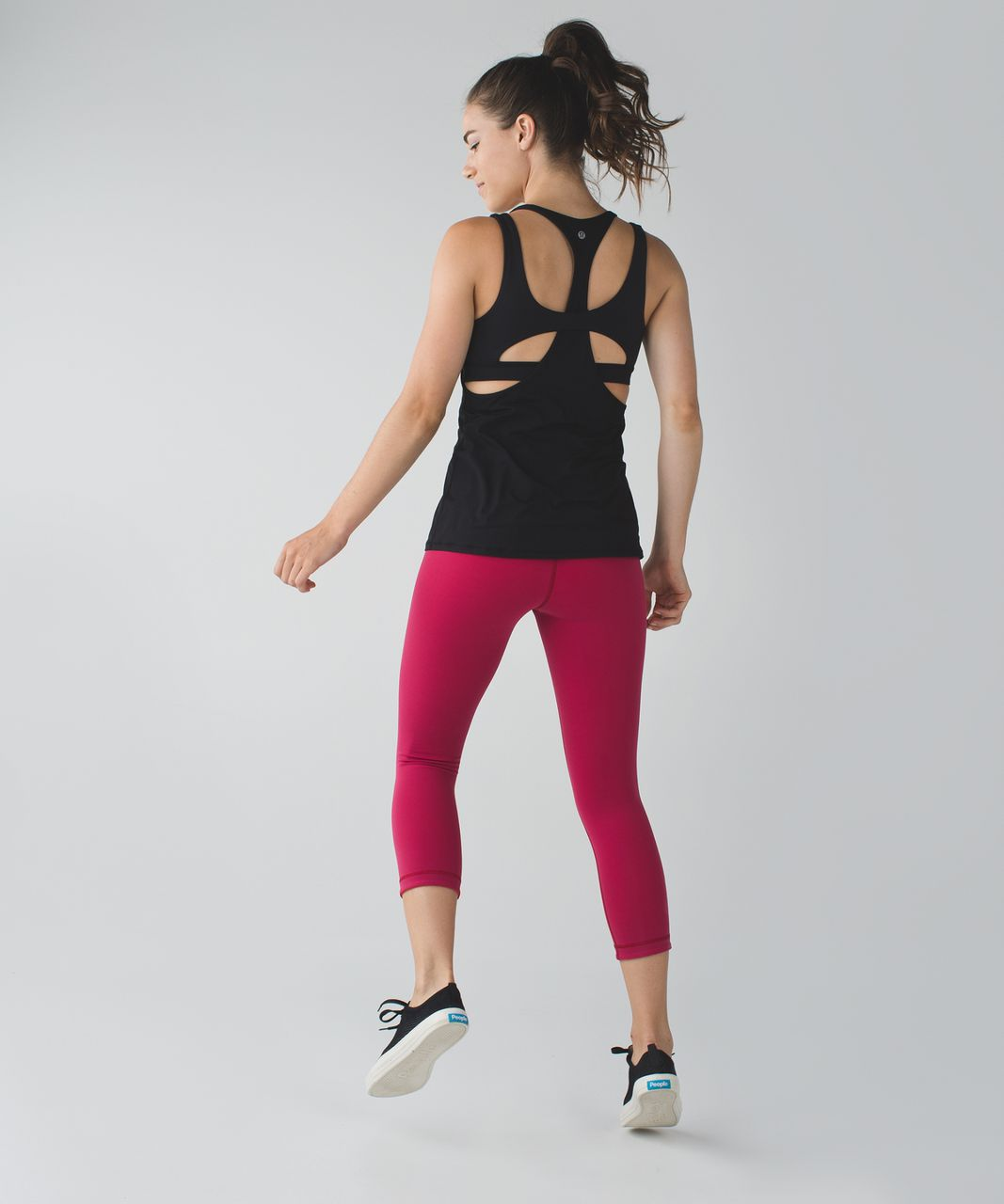 Lululemon Wunder Under Crop III *Reversible - Cranberry / Alarming