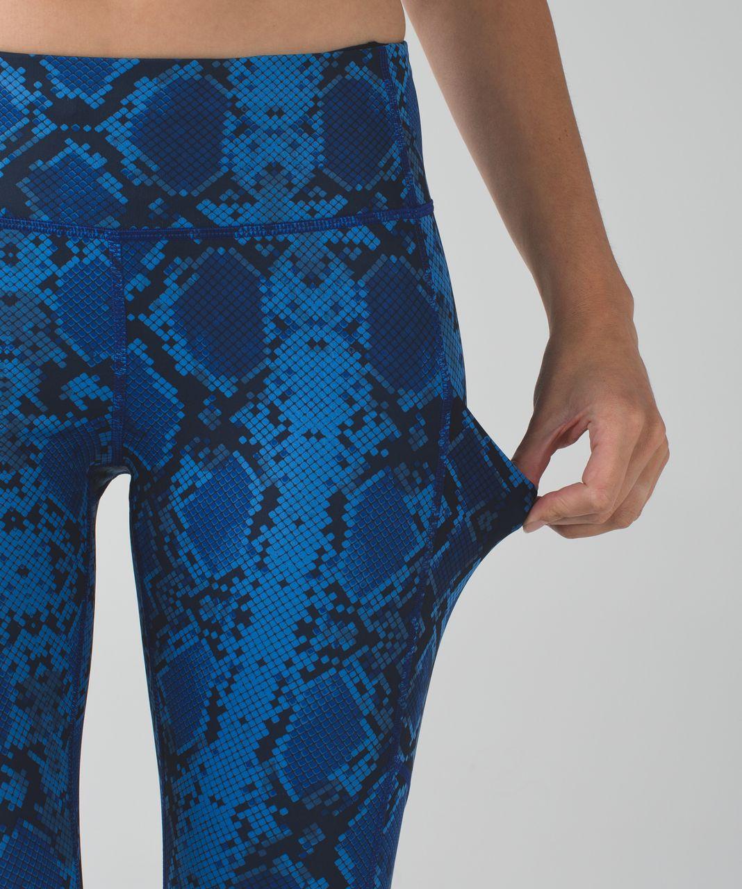 Lululemon Speed Tight IV *Full-On Luxtreme - Mini Ziggy Snake Pipe Dream Blue Sapphire Blue