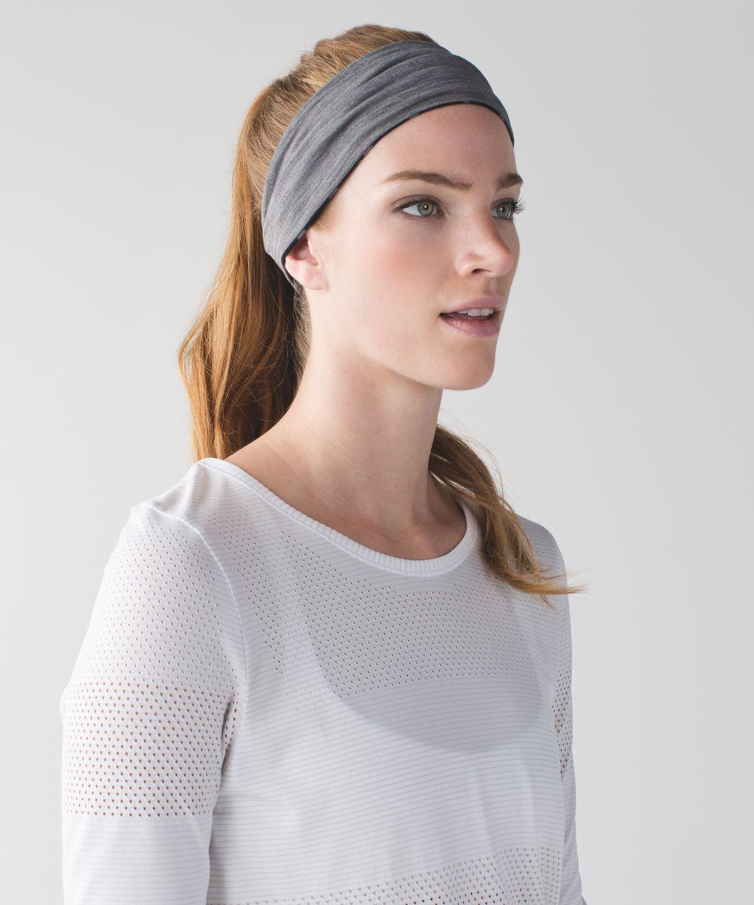 Lululemon Fringe Fighter Headband - Ghost Dot Black Slate / Heathered Slate