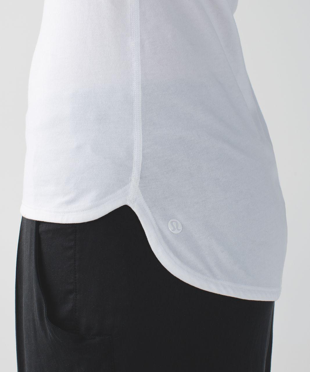 Lululemon Circadian Long Sleeve V Neck Tee - White