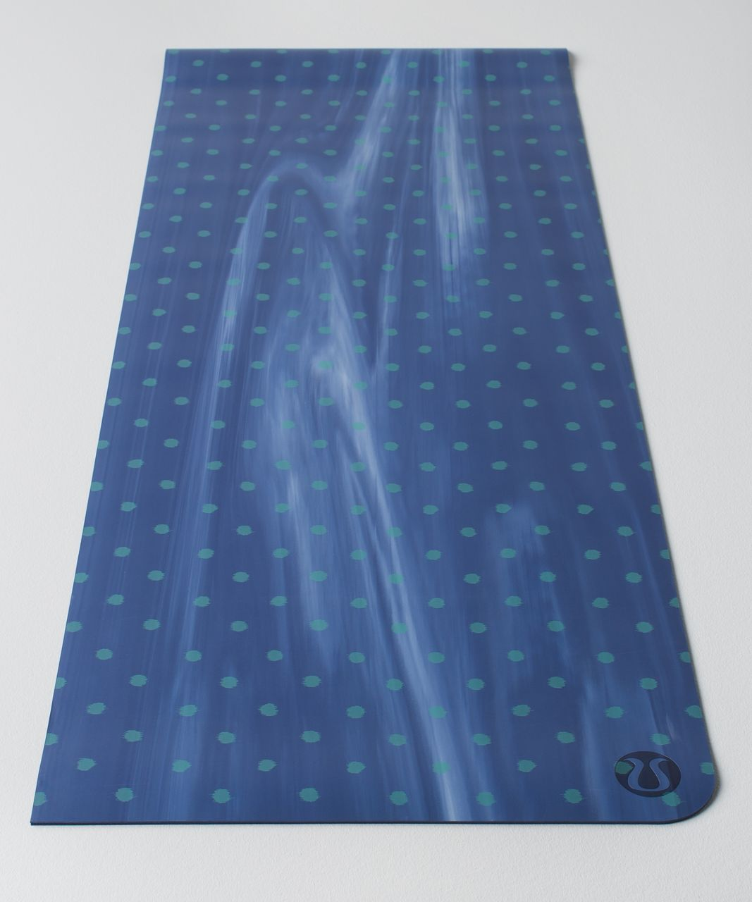 Lululemon The Reversible Mat 5mm - Simply Ghost Dot Arctic Teal White / Sapphire Blue