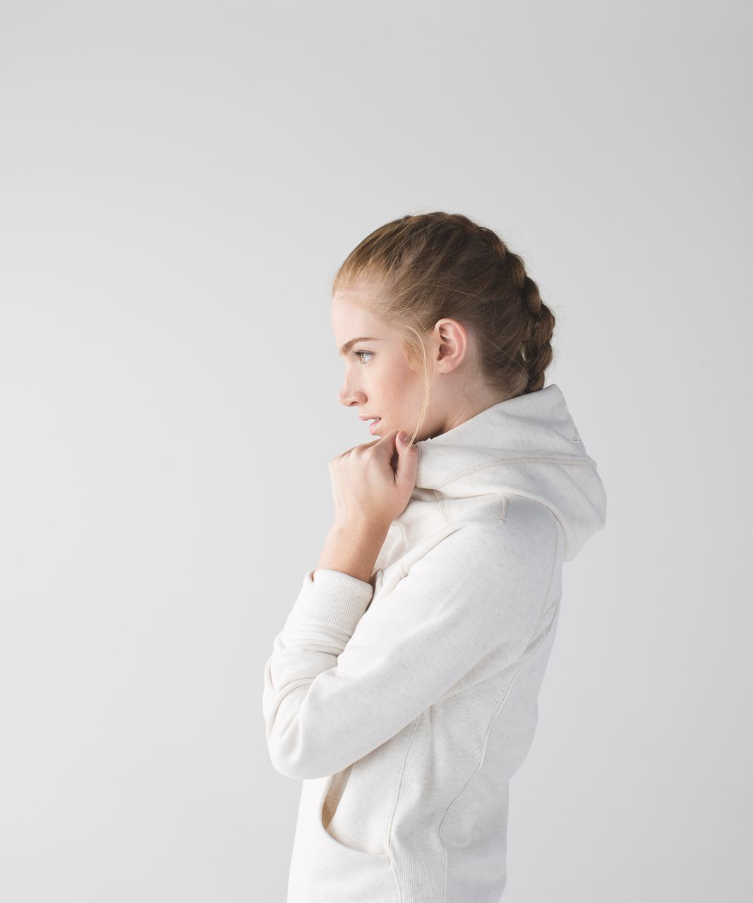 Lululemon Scuba Hoodie *Classic Cotton Fleece - Heathered Angel White