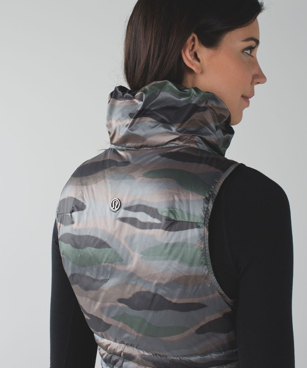 Lululemon Fluffin Awesome Vest - Coast Camo Butter Pink Multi