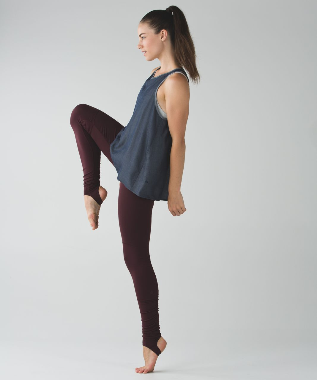 Lululemon Wunder Under Pant (Stirrup) - Bordeaux Drama